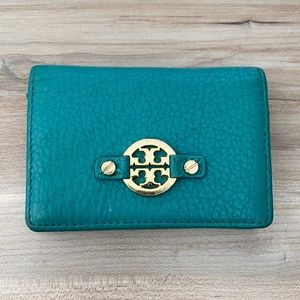 ❤️ Tory Burch logo leather wallet